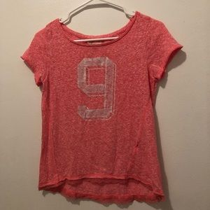 XS Abercrombie and Fitch pink top lace